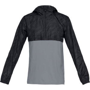 Pánska ľahká bunda Under Armour Wind Anorak BLACK / STEEL / BLACK - XXL