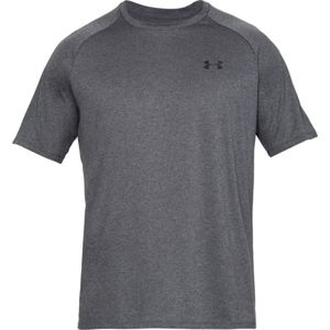 Pánske tričko Under Armour Tech SS Tee 2.0 Carbon Heather - XS