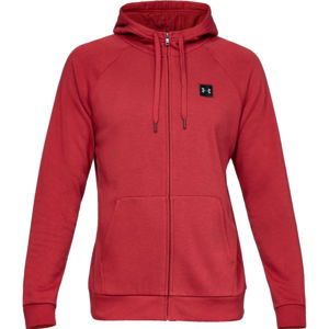 Pánska mikina Under Armour Rival Fleece FZ Hoodie Aruba Red - XXL