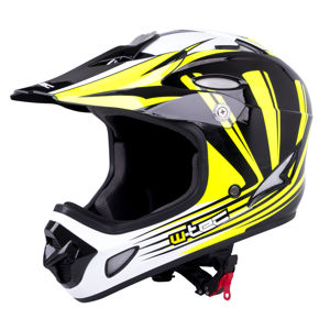 Downhill prilba W-TEC FS-605 Allride Yellow Graphic - L (59-60)