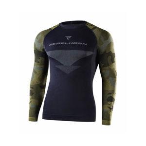 Moto thermo tričko Rebelhorn Freeze Jersey čierna-kamufláž - XXL