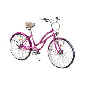 """Dámsky mestský bicykel DHS Cruiser 2698 26"""" - model 2019 Violet - Záruka 10 rokov"""