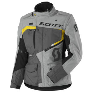 Dámska moto bunda SCOTT W's Dualraid DP MXVII grey-yellow - L (38)