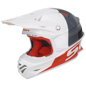 Motokrosová prilba SCOTT 350 Pro Track MXVII White-Orange - XL (61-62)