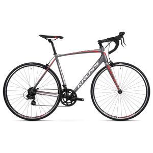 """Cestný bicykel Kross Vento 1.0 28"""" - model 2020 grafitová/červená/biela - M (21"""") - Záruka 10 rokov"""