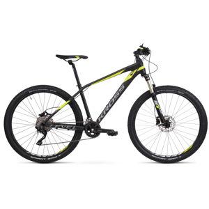 "Horský bicykel Kross Level 6.0 29"" - model 2020 čierna/grafitová/limetková - S (17'') - Záruka 10 rokov"