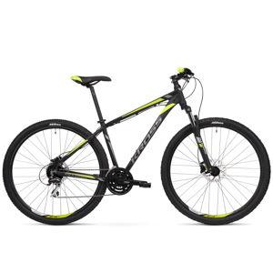 """Horský bicykel Kross Hexagon 5.0 27,5"""" - model 2020 čierna/grafitová/limetková - S (17'') - Záruka 10 rokov"""