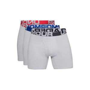 Pánské boxerky Under Armour Charged Cotton 6in 3 páry Mod Gray Medium Heather - S