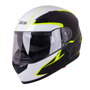 Moto prilba W-TEC FS-816 Black-Fluo Yellow XL (61-62)