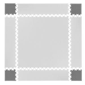 Rohy pre podložku Simple 4ks sivé