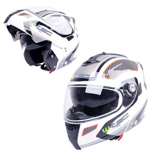 Moto prilba W-TEC NK-839 S-Cape White Red - M (57-58)