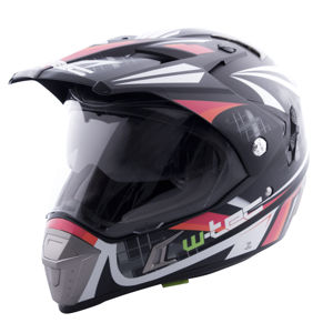 Moto prilba W-TEC NK-311 Cube Black Orange - XS (53-54)