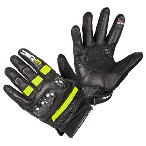Moto rukavice W-TEC Rushin Black-Fluo Yellow - XL