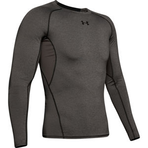 Pánske kompresné tričko Under Armour HG Armour LS Carbon Heather - XL