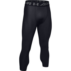 Pánske kompresné legíny Under Armour HG Armour 2.0 3/4 Legging Black - XXL