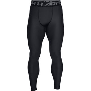 Pánske kompresné legíny Under Armour HG Armour 2.0 Legging White - XL