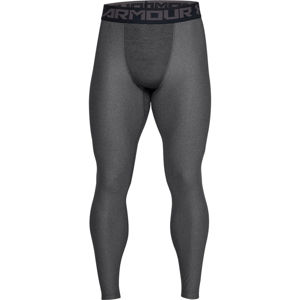 Pánske kompresné legíny Under Armour HG Armour 2.0 Legging Carbon Heather - S