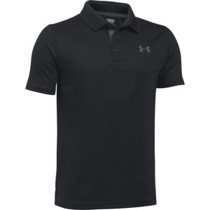 Detské tričko Under Armour Performance Polo Black - YM