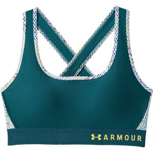 Dámska kompresná podprsenka Under Armour Mid Crossback Print Tourmaline Teal - XS
