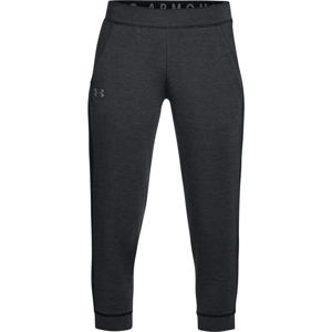 Dámske legíny Under Armour Featherweight Fleece Crop Black - M