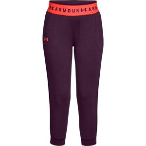 Dámske legíny Under Armour Featherweight Fleece Crop Merlot - XS