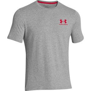 Pánske tričko Under Armour CC Left Chest Lockup True Gray Heather - XXL