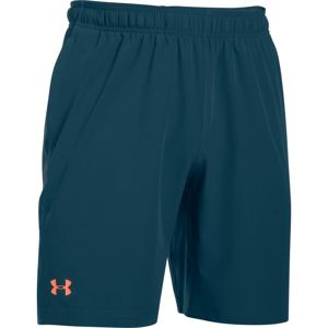 Pánske šortky Under Armour Center Court 8in Woven Shorts Blue Whale/Atomic Gray/Salmon - S