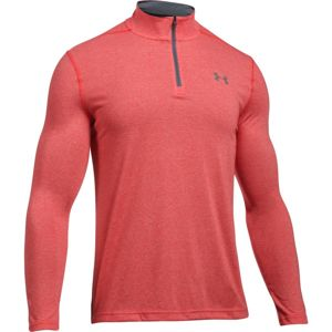 Pánska mikina Under Armour Threadborne Fitted 1/4 Zip RED / GRAPHITE - L