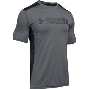 Pánske tričko Under Armour Raid Graphic SS Gray/Black - L