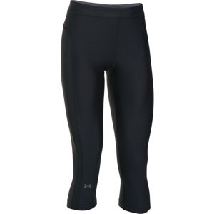 Dámske kompresné legíny Under Armour HG Armour Coolswitch Capri BLACK / BLACK / GRAPHITE - XS