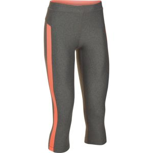 Dámske kompresné legíny Under Armour HG Armour Coolswitch Capri Storm Dust/Salmon/Salmon - XS