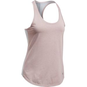 Dámske bežecké tielko Under Armour Threadborne Run Mesh Tank TRUE GRAY HEATHER / LONDON ORANGE / REFLECTIVE - XS