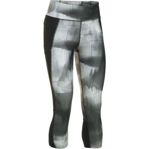 Dámske kompresné legíny Under Armour Fly By Printed Capri Black/Gray/Reflective - M