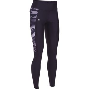 Dámske kompresné legíny Under Armour Fly By Printed Legging Black/Gray Stripes/Reflective - S