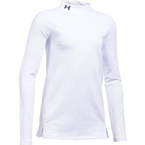 Dievčenské tričko Under Armour ColdGear Mock White/White/Black - YXS