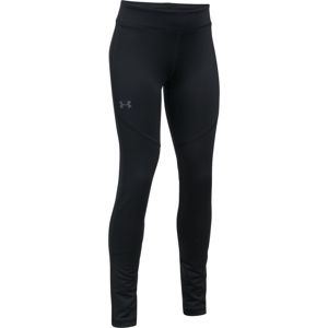 Dievčenské legíny Under Armour ColdGear Legging Black / Black / Apollo Gray - YXS