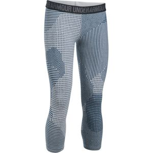 Dámske 3/4 legíny Under Armour Favorite Capri Printed TRUE GRAY HEATHER / BLACKOUT NAVY / METALLIC SILVER - S