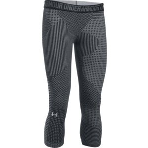 Dámske 3/4 legíny Under Armour Favorite Capri Printed Bright Gray/Ebony/Metallic Silver - S