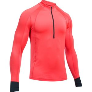 Pánske tričko Under Armour CG Reactor Run Half Zip MARATHON RED / BLACK / REFLECTIVE - XL