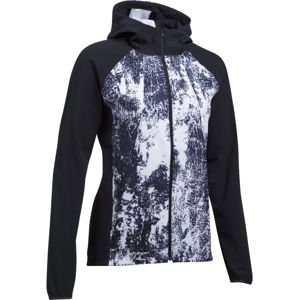Dámska bežecká bunda Under Armour Outrun The Storm Printed Jkt BLACK / WHITE / REFLECTIVE - M