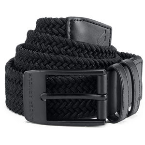 Pánsky opasok Under Armour Men's Braided 2.0 Belt Black/Black - 30