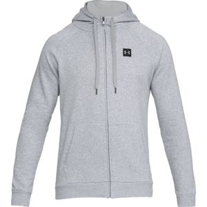 Pánska mikina Under Armour Rival Fleece FZ Hoodie Steel Light Heather/Black - M