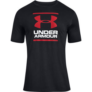 Pánske tričko Under Armour GL Foundation SS T Black/White/Red - XL