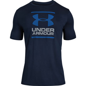 Pánske tričko Under Armour GL Foundation SS T Academy/Steel/Royal - L