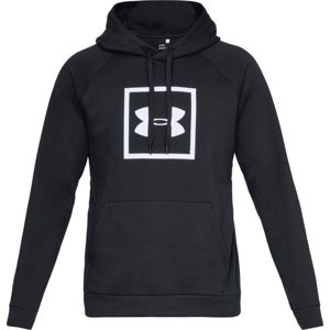 Pánska mikina Under Armour Rival Fleece Logo Hoodie Black/White - S