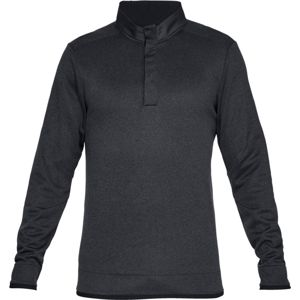 Pánska mikina Under Armour Storm SF Heather Snap Mock BLACK / BLACK / BLACK - XXL