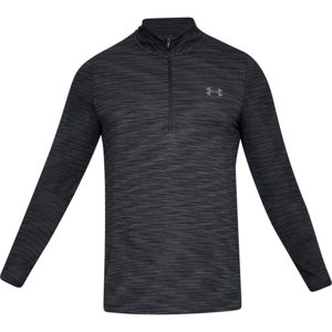 Pánske tričko Under Armour Vanish Seamless 1/2 Zip Black/Graphite - S
