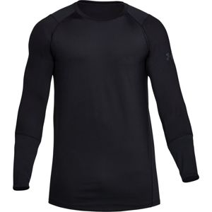 Pánske tričko Under Armour Raid 2.0 LS Black / Black / Stealth Gray - XL
