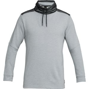 Pánska mikina Under Armour Microthread Terry Mock Steel Light Heather/Black - XXL