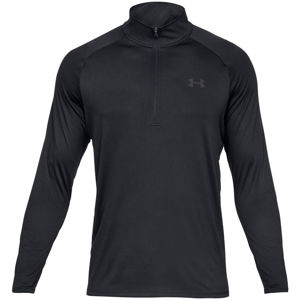 Pánske tričko Under Armour Tech 2.0 1/2 Zip Black /  / Charcoal - S